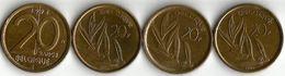 Lot 4 Pièces De Monnaie 20 Francs - 07. 20 Francs