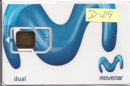 TARJETA GSM MOVISTAR DUAL 029 RARE - Espagne
