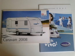 Dep026 Depliant Advertising Roulotte Camping Adria Caravelair Plain Air Tourism Turismo - Camping