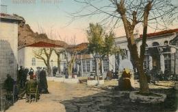 CP GRECE SALONIQUE PETITE PLACE ANIMEE - Greece