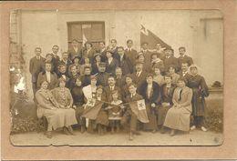 GROUPE   ESPERANTOS  JUIN 1914       VOIR  TEXTE AU DOS VILLE  DE   ?   JEUNE  SABLAISE  A  DROITE ? - Esperanto