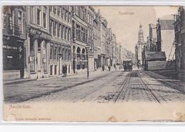 Amsterdam Spuistraat Volk Paardentram ± 1901    1421 - Amsterdam