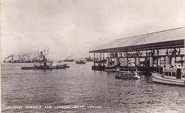 CEYLON / COLOMBO HARBOUR AND LANDING JETTY - Sri Lanka (Ceylon)