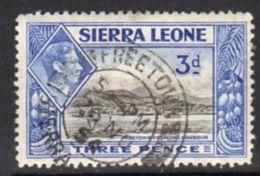 Sierra Leone GVI 1938-44 3d Black & Ultramarine Definitive, Used, SG 192 (BA) - Sierra Leona (...-1960)