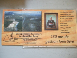 GROUPEMENTS FORESTIERS  DES FAMILLES GENY / JOLI DOCUMENT / MEURTHE ET MOSELLE - Pubblicitari