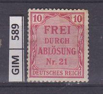 GERMANIA IMPERO, 1903SERVIZI, 10 Pf, Nuovo Con Ling - Nuovi