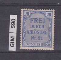 GERMANIA IMPERO, 1903SERVIZI, 20 Pf, Nuovo Con Ling - Nuovi