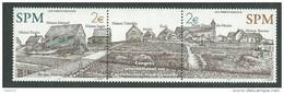 St Pierre Et Miquelon N° 796 / 97 XX. Les 2 Valeurs Avec Vignette Centrale Sans Charnière,TB - Neufs