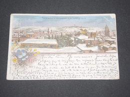 Carte Postale GRUSS Panorama De Jérusalem - Superbe Et Rare - Voyagée - P 22561 - Palestine