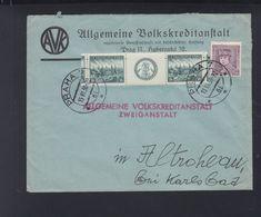 Czechoslovakia Cover 1938 Praha To Karlsbad - Czechoslovakia