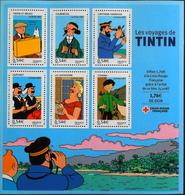 FR. 2007 - BLOC & FEUILLET N° 109 Les Voyages De TINTIN - 6 TIMBRES NEUFS** Pour Une Faciale De 3,24€  - TBE - Blocs & Feuillets