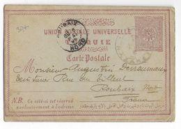 PALESTINE OCCUPATION TURQUIE - 1902 - CARTE ENTIER De NAZARETH => ROUBAIX - 1858-1921 Empire Ottoman