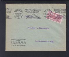 Czechoslovakia Cover 1934 Special Cancelation CSL. Armady - Czechoslovakia