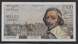 France 1000 Francs Richelieu - 5-5-1955 - Fayette N°42-13 - NEUF (une Marque De Trombone) - 1871-1952 Anciens Francs Circulés Au XXème