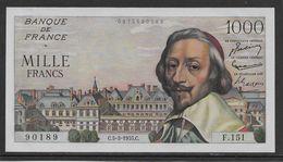 France 1000 Francs Richelieu - 5-5-1955 - Fayette N°42-13 - NEUF (une Marque De Trombone) - 1871-1952 Circulated During XXth
