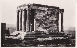AN83 Temple De La Victoire Aptere, Athens - RPPC - Greece