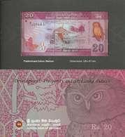 SRI LANKA - 20 RUPEES 2010 (Commemo Folder) -  Pick 123b UNC - Sri Lanka