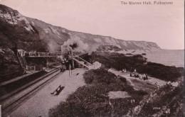 AP37 The Warren Halt, Folkestone - RPPC, Steam Train - Folkestone
