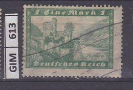 GERMANIA IMPERO, 1924Vedute, 1 M, Usato - Gebruikt