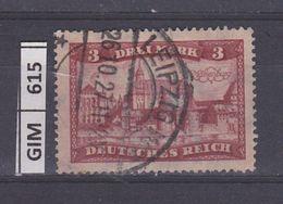 GERMANIA IMPERO, 1924Vedute, 3 M, Usato - Gebruikt