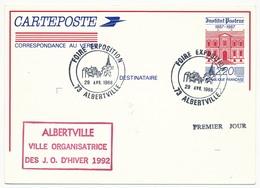 Entier Repiqué - 2,20 Institut Pasteur - Foire Exposition - 73 ALBERTVILLE - 1988 - Postal Stamped Stationery