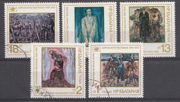 Bulgarie 1976 Mi.Nr.: 2551-2555 Jahrestag Des April-Aufstandes Gegen Die Türken: Gemalde  Oblitère / Used / Gestempeld - Gebraucht
