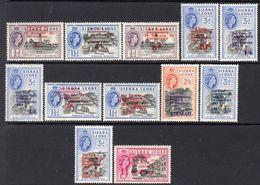 Sierra Leone QEII 1963 2nd Anniversary Of Independence Overprints Set Of 12, MNH, SG 257/68 (BA) - Sierra Leone (...-1960)