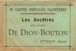 UNE ENVELOPPE ( SANS LES CARTES POSTALES )  LES ANCÊTRES AUX USINES DE DION BOUTON & CIE - Vieux Papiers