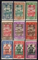 Inini Taxe N° 1 / 9 X Timbres Taxe De Guyane Surchargés Les 9 Valeurs Trace Charnière Sinon TB - Inini (1932-1947)