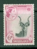 Swaziland: 1956   QE II - Pictorial   SG58   6d    MH - Swasiland (...-1967)