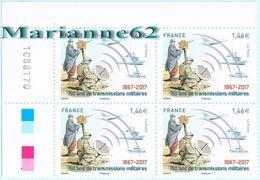 """France 2017 TP*4 Coin """" 150 Ans De Transmissions Militaires 1867-2017 """" - Coins Datés"""
