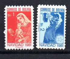 Serie Nº 616/7 Bolivia  Navidad - Bolivia