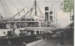 Landverhuizers Gaan Inschepen Op Een Steamer Van De  Red Star Line In 1910 Pracht Kaart ??? - Dampfer