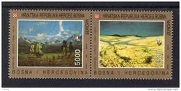 CEPT Zeitgenössische Kunst Bosnien-Herzegowina 7 - 8 ** Postfrisch MNH - 1993