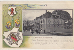 Singen - Bahnhof-Hotel Z. Adler - Passepartout - Präge-AK - 1903      (A-67-100511) - Singen A. Hohentwiel