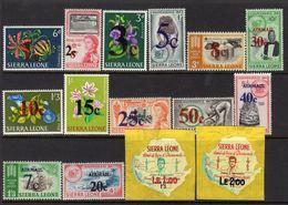 Sierra Leone QEII 1964-6 Decimal Currency Overprints Set Of 15, MNH, SG313/27 (BA) - Sierra Leone (...-1960)