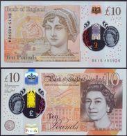 UK 10 Pounds 2016 ( 2017 ) UNC  Polymer > Super Price!!! - 1952-… : Elizabeth II