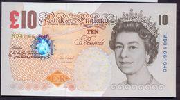 UK Great Britain 10 Pounds 2000 UNC P- 389e > Super Price!!! - 1952-… : Elizabeth II