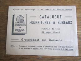 190                 FOURNITURES DE BUREAUX     WEICK ST DIE  88     52 - Pubblicitari