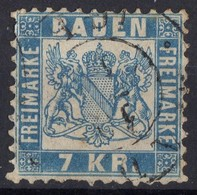 1862 BADE  Obl 25  Dents Courtes - Baden