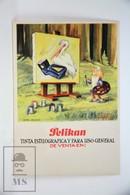Vintage Illustrated Advertising Blotter Paper - Pelikan Ink - Buvards, Protège-cahiers Illustrés