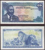 KENYA - 20 SHILLINGS Mzee Jomo Kenyatta / Lions - 01/07/1978 - Kenya