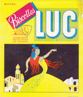 BUVARD LUC Biscottes Chateauroux Danseuse Flamenco SIRVIN - Zwieback