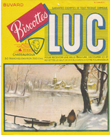 BUVARD LUC Biscottes Chateauroux Lac Neige église SIRVEN - Zwieback