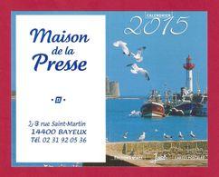 Petit Calendrier Publicitaire 2015.  Port, Bateau, Phare, Mouettes. - Calendari