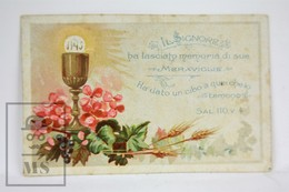 Vintage Religious Card - Remembering First Communion - 1897 - Imágenes Religiosas