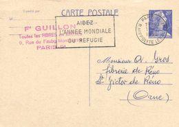 Entier Postal Carte Postale 20F Fd Guillon 9 Rue Fbg Montmartre Paris Vers Fibrerie De Reno St Victor De Réno  (Orne) RV - District 09