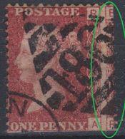 Great Britain - 1858-64 - Obl. - Y&T 26 - One Penny - Piquage à Cheval - Brrrrrrr  - - Oblitérés