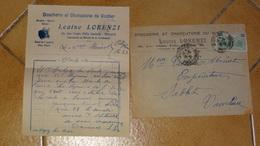 Facture MONACO : Louis LORENZI, Boucherie, 1930 ...........................L312c - Unclassified