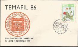J) 1986 PERU, PERUVIAN PHILATELIC ASSOCIATION, TROPAELUM MAJUS L., FLOWER, FDC - Peru